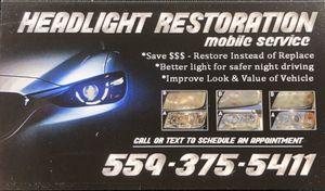 Headlight Restorations for Sale in Fresno, CA
