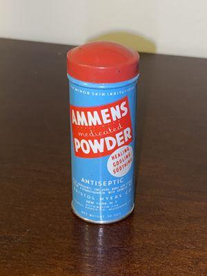 New vintage NOS Ammens Powder antique medicinal bottle for Sale in Philadelphia, PA