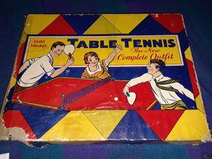 Original owner 1950s table tennis game for Sale in Denver, CO