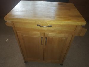 Kitchen island with towel rack, condiment holder, cabinet and drawer for Sale in Cape Coral, FL