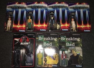 Funko ReAction action figures carded Alien Breaking Bad Fifth Element for Sale in Columbus, OH