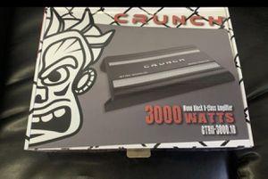 Crunch car audio . Car stereo amplifier. 3000 watt class d with remote bass knob . New for Sale in Mesa, AZ