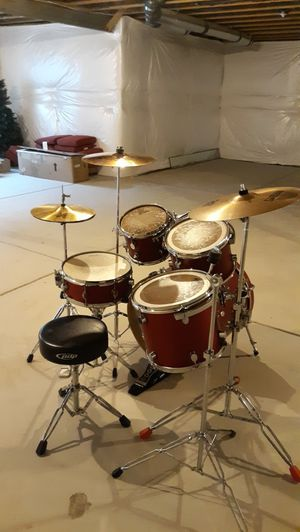 PDP FS Series All Birch Drum Set Complete With Everything Shown!! for Sale in Denver, CO