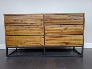 West Elm Logan bedroom set (6-drawer dresser and 2 night stands) for Sale in Denver, CO