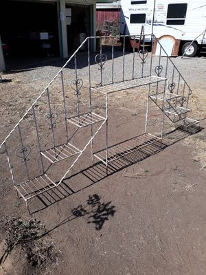 """LARGE VINTAGE WROUGHT IRON PLANTS OR SPECIAL EVENTS DISPLAY STAND 112""""L×10.5""""W×54""""H for Sale in Corona, CA"""