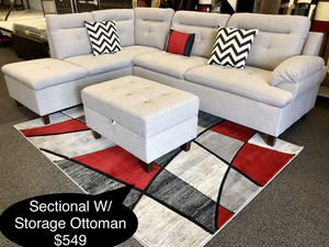 Brand new sectional with storage ottoman for Sale in Fresno, CA