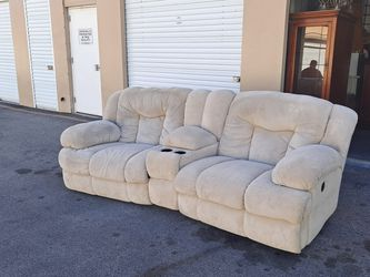 Double Reclining Couch With Cup Holders And Storage! No Rips!! for Sale in Las Vegas,  NV