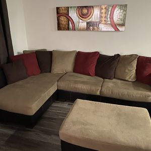Living Room Sectional Sofa, Ottoman and Sofa for sale for Sale in Orlando, FL