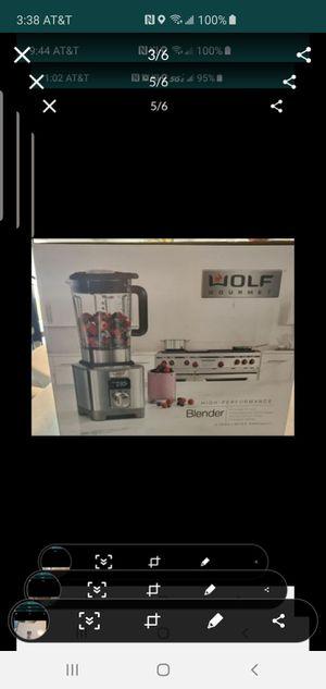 Wolf Gourmet Blender New in box. Never used. -Model #WGBL120S -64oz -Bpa free for Sale in Scottsdale, AZ