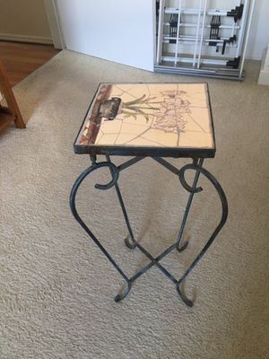 Plant stand - wrought iron w/ ceramic top for Sale in E ATLANTC BCH, NY