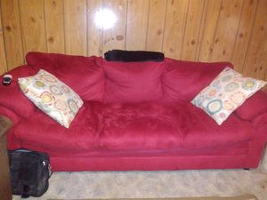Matching Red Sofa & Loveseat for Sale in Cairo, WV