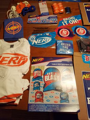 Nerf Gun Party Supplies for Sale in Hendersonville, NC