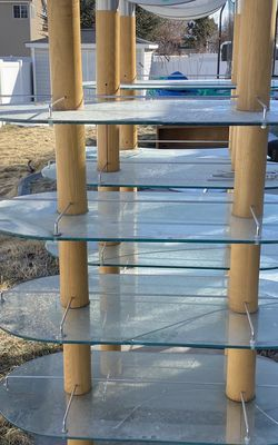 Glass Shelve With 4 Shelves for Sale in West Valley City,  UT