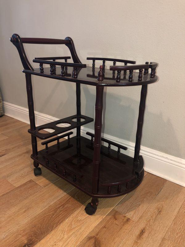 Wooden Bar Cart