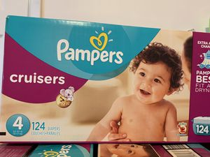 Pampers size 4 diapers new $25 each box for Sale in El Monte, CA
