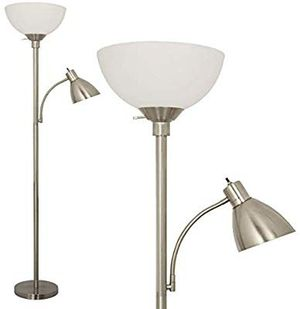 Floor Lamp by Light Accents - Metal Standing Lamp with Side Reading Light - Mother Daugh for Sale in Anaheim, CA