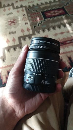Canon 28-80mm Digital Lense with attached Rolev 58mm filter lense for Sale in Port St. Lucie, FL