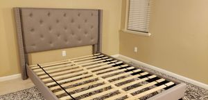 Queen Bed Frame with Nailhead Trim for Sale in San Luis Obispo, CA