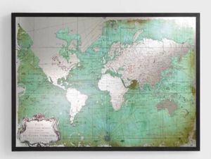 World market wall mirror map for Sale in Bethesda, MD