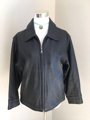 Ladies XS Eddie Bauer Stine Leather Jacket for Sale in Alexandria, VA