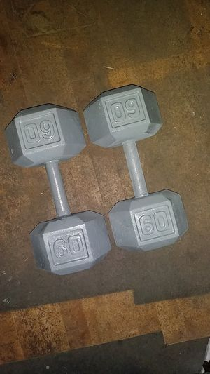 (2) 60 lb hex weights, 120 lb total for Sale in Harrisburg, PA