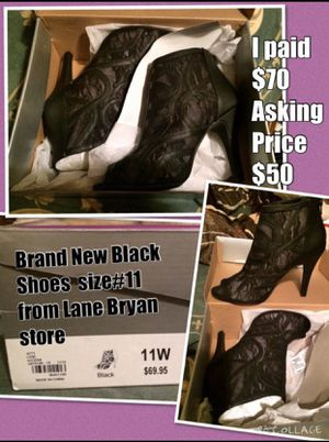 Brand New Black High Heels 👠 (tacones size 11) for Sale in Houston, TX