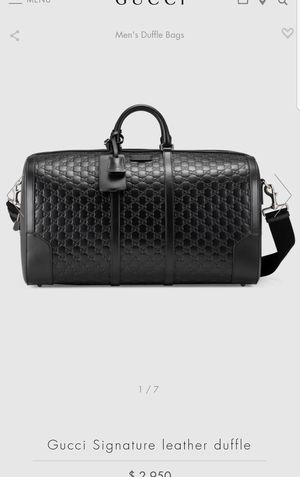 GUCCI Signature Duffle Bag. Probably the best Gucci duffle ever made for Sale in Los Angeles, CA