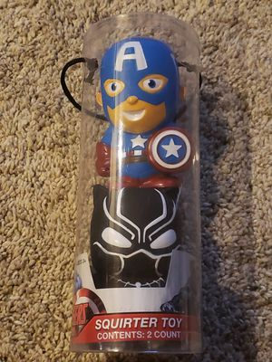Captain America & Black Panther Squirter Water Toys Marvel Avengers NEW for Sale in Annapolis, MD