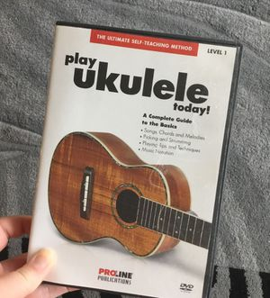 Learn to play ukulele DVD proline for Sale in Denver, CO