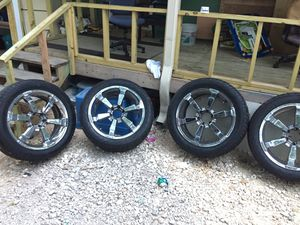 """22"""" rims meat tires for Sale in Austin, TX"""