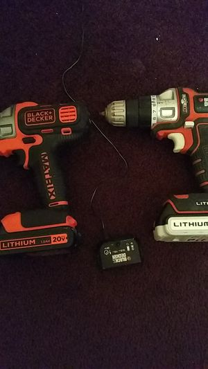 2 cordless drills 20 volt Black and Decker for Sale in Savannah, GA