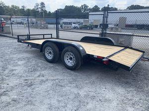 7x16 Car Hauler trailer 7,000lb capacity 1 Brake for Sale in Hiram, GA