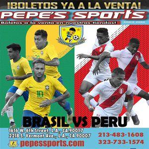 Brasil vs Perú, vendemos tickets for Sale in Los Angeles, CA
