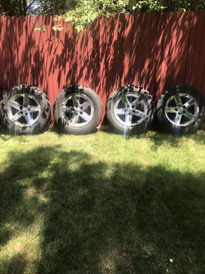 "20"" 4 Rims and Tires for a Dodge Ram 1500 for Sale in Denver, CO"