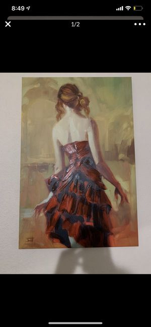 Chic painting / acrylic paint / canvas / wall decor for Sale in Hialeah, FL