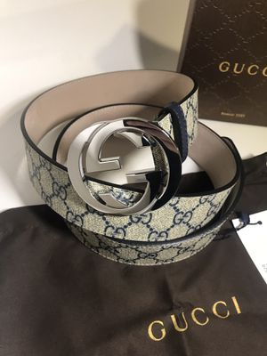 Gucci Blue GG Supreme Belt *Authentic for Sale in Queens, NY