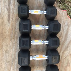 Hex Dumbbells 10, 15, 20lbs for Sale in Braintree, MA