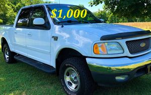 🟢💲1,OOO For sale URGENTLY this Beautiful💚2002 Ford F150 nice Family truck XLT Super Crew Cab 4-Door Runs and drives very smooth V8🟢 for Sale in Hartford, CT