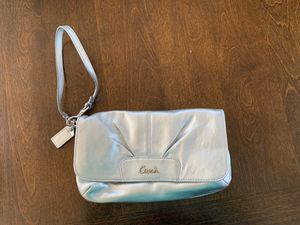 Silver Coach Wristlet for Sale in West Haven, CT