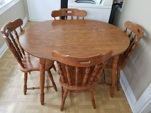Wooden dining room table and chairs for Sale in US