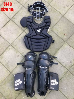 Easton catcher gear in great condition quality baseball bats gloves for Sale in Los Angeles, CA