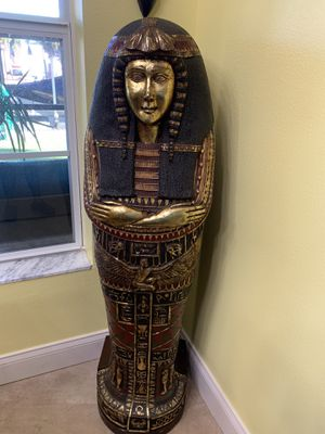 Egyptian Treasure storage.. he's 49 in tall for Sale in Flagler Beach, FL