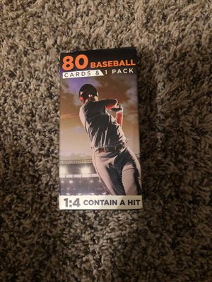 Baseball Cards Box includes 80 baseball cards and 1 extra pack! for Sale in Houston, TX