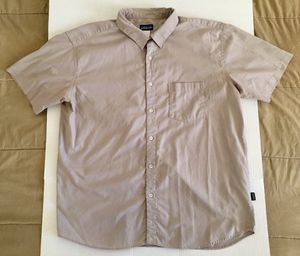 Patagonia Organic Cotton Beige Tan Classic Casual Work Button Shirt Mens Sz XL for Sale in Tempe, AZ