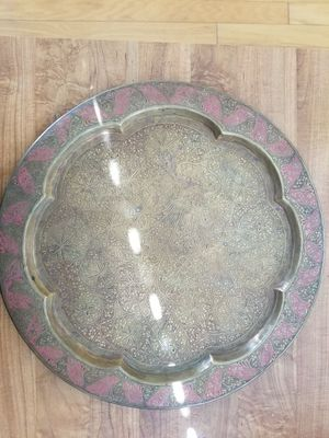 Antique Brass Table Tray for Sale in Tampa, FL