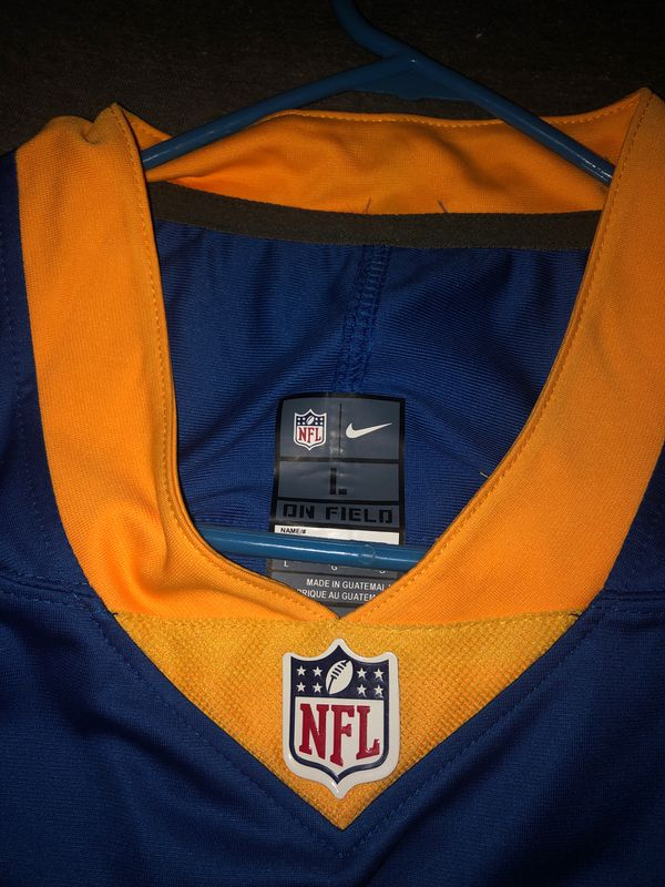 LA Rams Throwback Jared Goff Jersey Size L