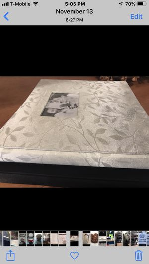 Wedding albums / pillow barrier/ guest book/ garter all for for Sale in Riverside, CA