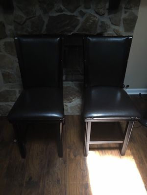Solid Marble Table Leather Benches and chairs IWant 500 for Sale in Lithonia, GA