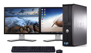 """Dell optiplex 780 desktop dual 19""""LCD's computer bundle for Sale in Shady Point, OK"""