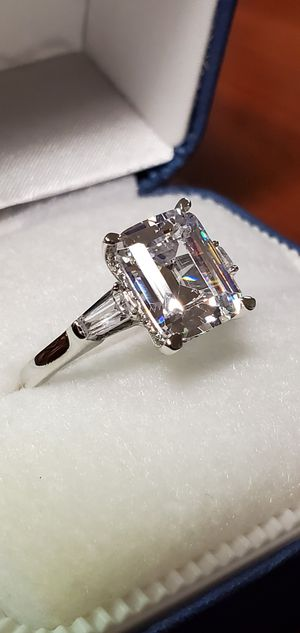 925 Sterling Silver, Cubic Zirconia Stones Approx. 4.5 Carats, Wedding/Engagement Ring Size 5, 6, 7 & 8 for Sale in Portland, OR